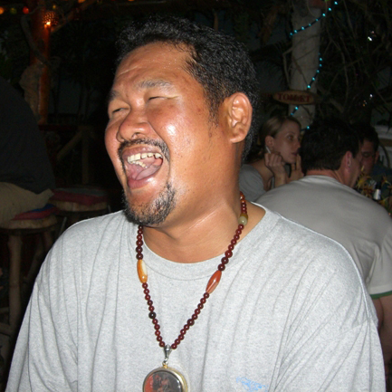 Pak - Owner of the Piranha Bar, Bang Niang Beach, Khao Lak, Thailand